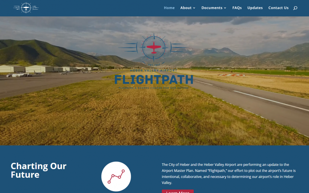 Aviatrix Communications and Aerovine Digital Media design informative, responsive website for Heber Valley Airport