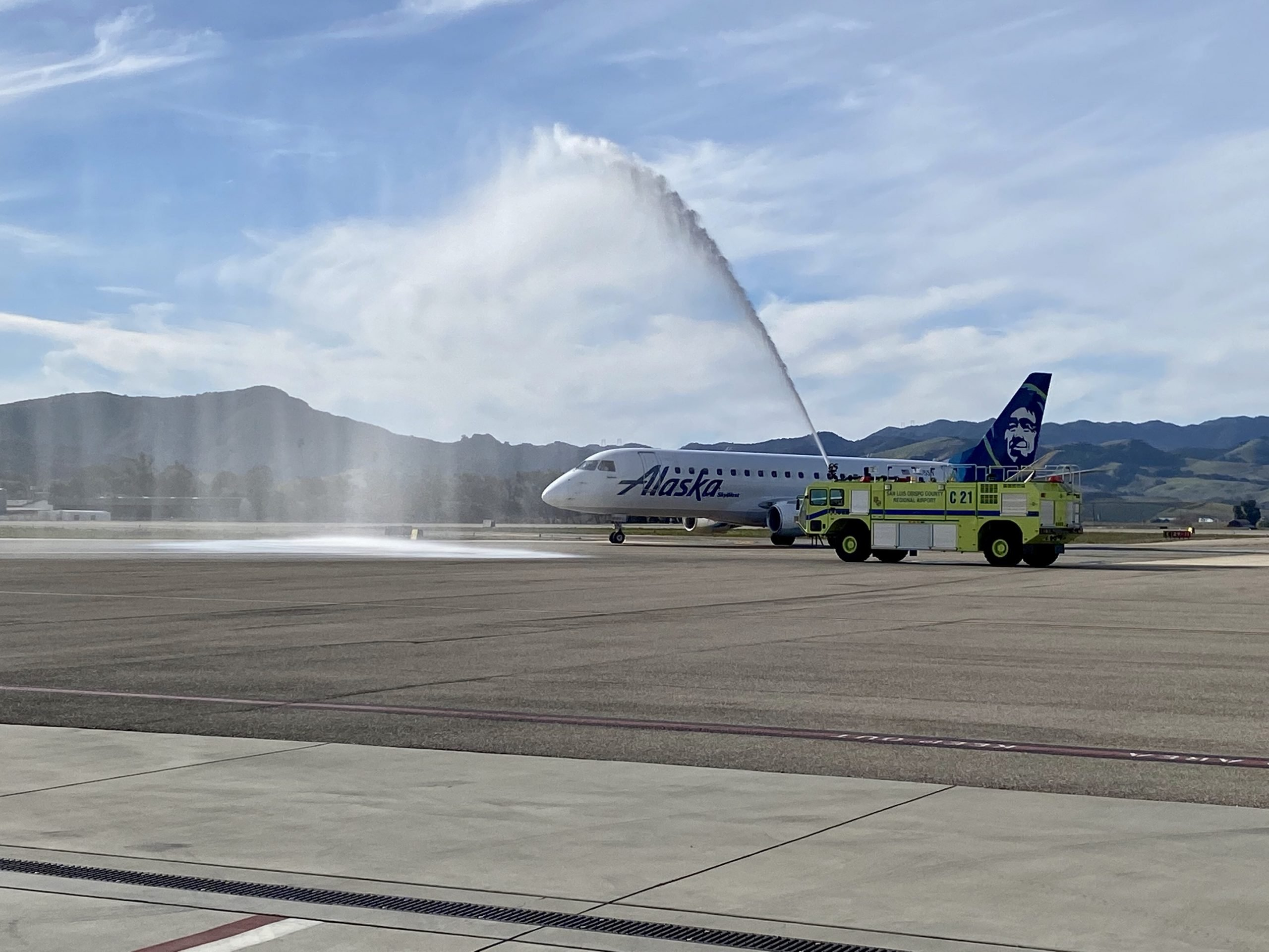 water cannon salute